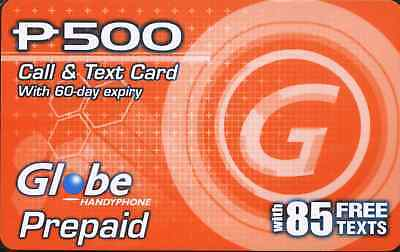 GLOBE Philippines Call & Text Card Prepaid Load 500