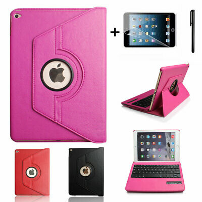 360 Rotating leather Case Cover  For Ipad Air 2 with Wireless Bluetooth Keyboard