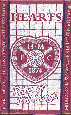 Hearts of Midlothian Football Club 100% Cotton Sports Terry Bath Towel