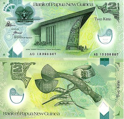 PAPUA NEW GUINEA 2 Kina Banknote World Currency Money Bill Note 2013 S. Pacific