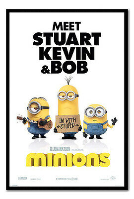 Framed Minions Im With Stupid Posters New