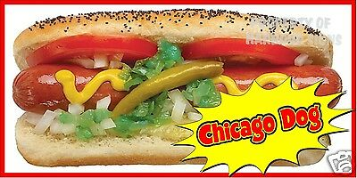 """Chicago Dogs Decal 12"""" Hot Dogs Concession Restaurant Food Truck Sticker"""