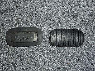 Rubber NOS GM 3657980 Clutch-Brake Pedal Pads 55-57 Chevy 56-7 Corvette*MOVING*