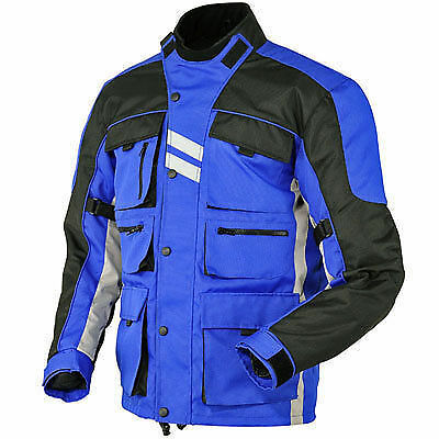 Men's Cordura Motorbike Motorcycle Waterproof Blue Jacket Collection