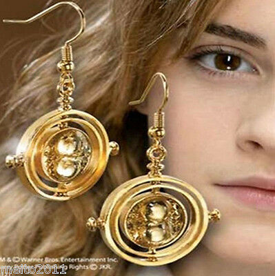 Hot Harry Potter Time Turner Hermione Rotating Spins Hourglass Dangle Earring