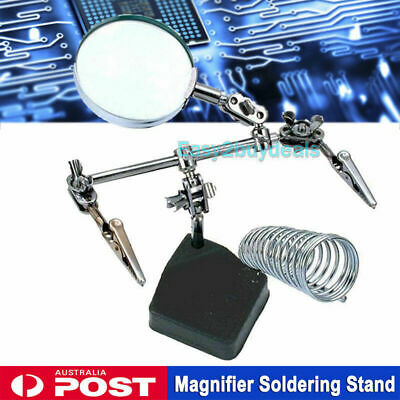 Third Hand Solder Soldering Iron Stand Holder Station Magnifier Helping Tool