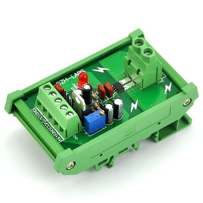 DIN Rail Mount +/-20Amp AC/DC Current Sensor Module, based on ACS712