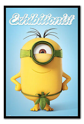 Framed Minions The Exhibitionist Poster New