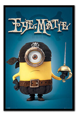 Framed Minions Eye Matie Pirate Poster New