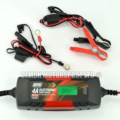 Maypole Smart Battery Charger 4A Car, Motorcycle, Van - Lead Acid, AGM (MP 7423)
