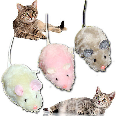 Cat Wind Up Mouse Play Mice Clockwork Joke Prank Moving Kids Toy Pet Teaser