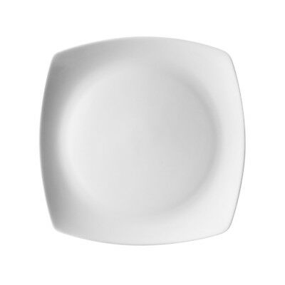 Ten Strawberry Street Aurora Square Salad/Dessert Plate, Set of 6, White - AUR-8