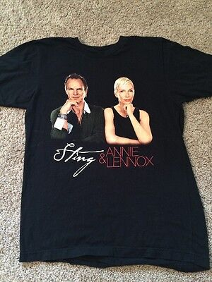 Sting Annie Lennox Concert T-Shirt Size Small