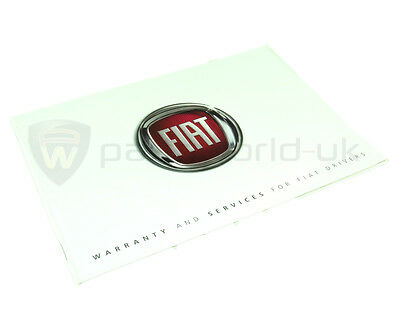 Fiat Service History & Warranty Book Manual New and Genuine Fiat 60395957