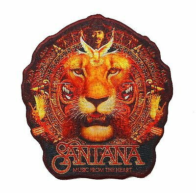 """Santana: Music From the Heart"" Latin Rock Band Apparel Iron On Applique Patch"
