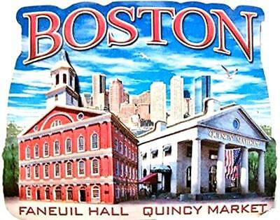 Boston MA Montage Artwood Fridge Magnet