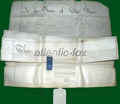1847 Buckingham, MaidsMorton Original Will of the Rector James Long Long