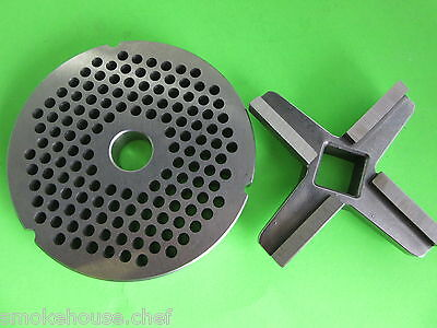 #52 with 6.0 mm holes Meat Grinder disc plate AND knife for BIRO Berkel Hobart