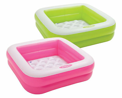 Intex Play Box Pool Baby Inflatable Kiddie Swimming Pool Square Pink or Green