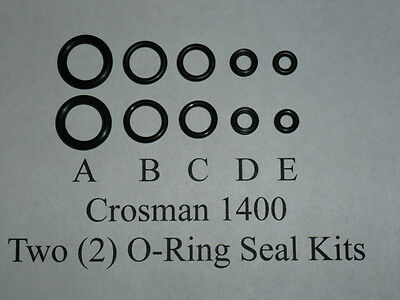 Crosman 1400 - Two (2) O-Ring Seal Kit + Exploded View & E-Z Seal Guide