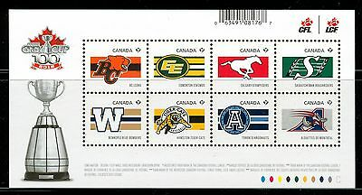 Canada #2558 Souvenir Sheet 2012 CFL Teams Football Game Grey Cup MNH