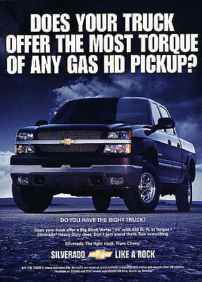 2004 Chevrolet Silverado CrewCab Truck Original Advertisement Car Print Ad J325
