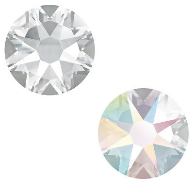 Genuine SWAROVSKI 2058 & 2088 Flat Backs * Crystal Clear & Crystal AB Colors