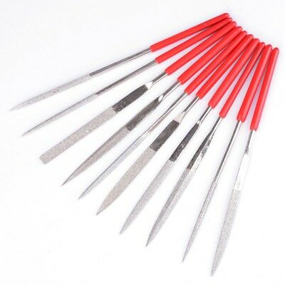 New 10pcs Diamond Needle File Set Diamond Cutting Tool For Glass Ceramic Carbide