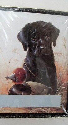 30 Self Stick BookPlates Black Lab Puppy Duck Decoy Hunting Man's Best Friend