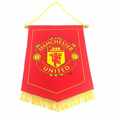 Official Manchester United Man UTD Red Devil Embroidered Pennant Wall Flag
