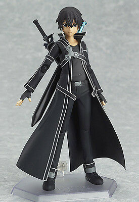 New Anime SAO Sword Art Online Kazuto Kirito PVC Figure 15cm in box figma CHINA