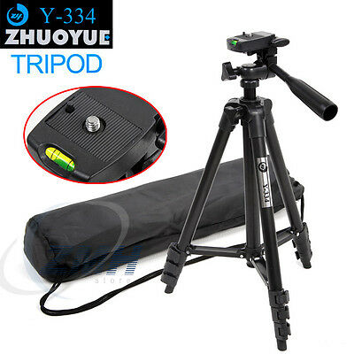 Pro Photo/Video Tripod With Case for Canon EOS Rebel T3 T3i T4i Nikon Sony 0.01b