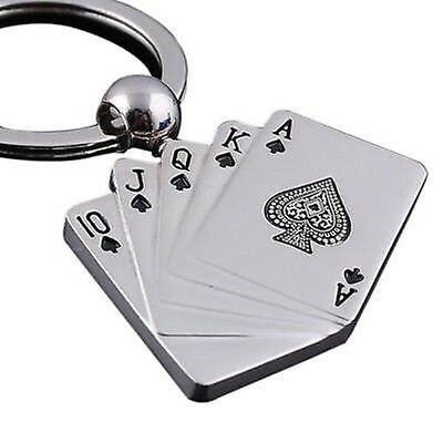 3D Male Personality Metal Key Chain Key Ring Gift For Car Motor Poker Keychain