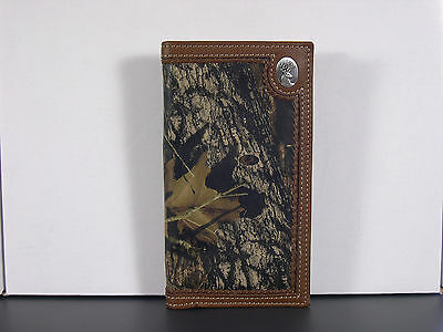 Buck Deer Small Concho Camo Checkbook Cover Western Wallet Billfold Checkbook