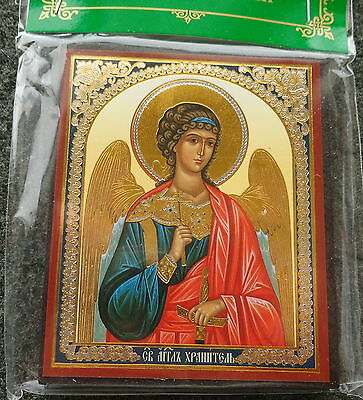 Russian wood icon    Guardian Angel  #2