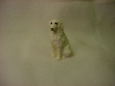 GREAT PYRENEES dog TiNY FIGURINE HAND PAINTED MINIATURE Statue COLLECTIBLE puppy