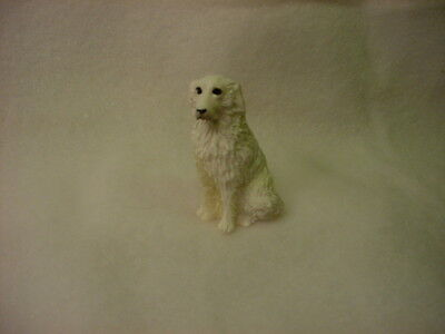 GREAT PYRENEES dog TiNY FIGURINE resin HAND PAINTED MINIATURE MINI small puppy