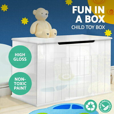 Artiss High Gloss Toy Box Chest Storage Drawer Bench Children Clothes Organiser