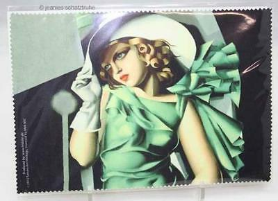 Glasses cleaning cloth/Microfiber cloth Art Deco Tamara Lempicka Young Lady with