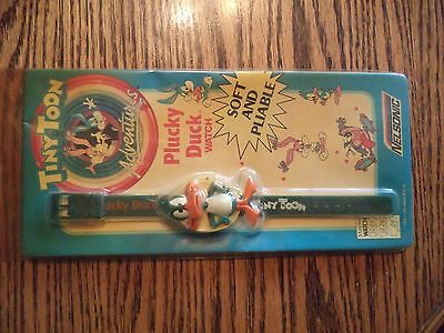 Vintage Tiny Toons Plucky Rubber Watch Sealed in the Original Package