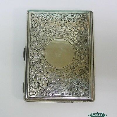 Victorian Sterling Silver Card Case By Colen Hewer Cheshire Chester England 1895