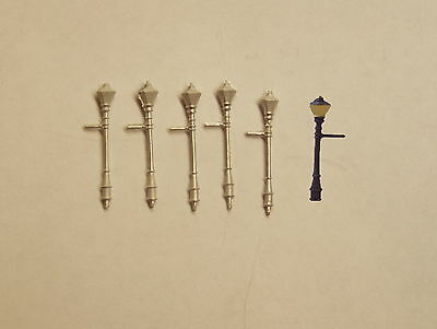 P&D Marsh N Gauge n Scale C15 Gas street lights large (5) castings require paint