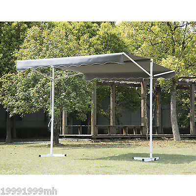 Outsunny 9.8x11.5ft Freestanding Patio Awning 2 Side Sun Shade Shelter Grey