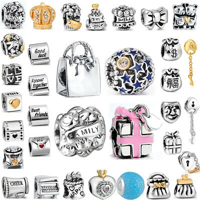 Silver Beads Birthday Party Best Gifts Fit European 925 Sterling Charm Bracelets