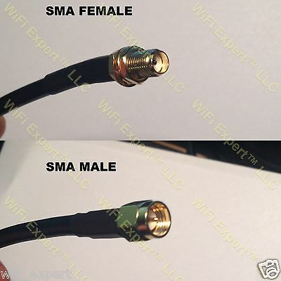 30' - 100' RFC240 SMA FEMALE to SMA MALE Coaxial RF Pigtail Cable USA Assembled