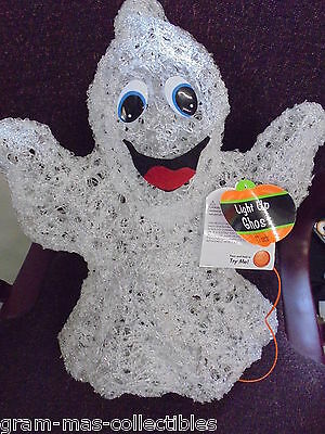 Light Up Ghost Plastic 17 Inch 3 Aa Batteries Included New