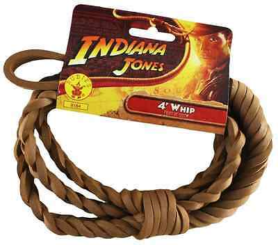 Indiana Jones 4' Whip Brown 4 Foot Toy Fancy Dress Halloween Costume Accessory