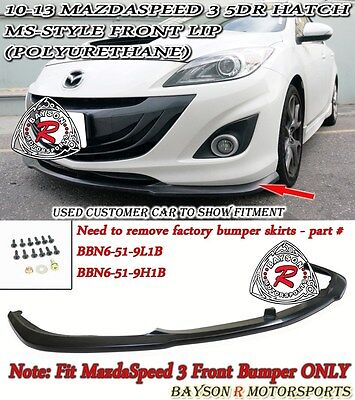MS-Style Front Lip (Urethane) Fits 10-13 MazdaSpeed 3 5dr Hatch