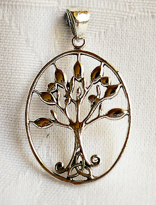 925 Silver Celtic Triskel Tree of Life Pendant ~Wicca~Reiki~Pagan~Jewellery~New