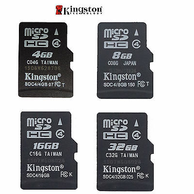 Kingston Micro SD SDHC 4GB/8GB/16GB/32GB TF Flash C4 Memory Card f Phone Genuine
